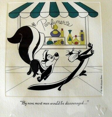Warner Bros. Pepe Le Pew & Penelope Limited Edition Etching Print with COA