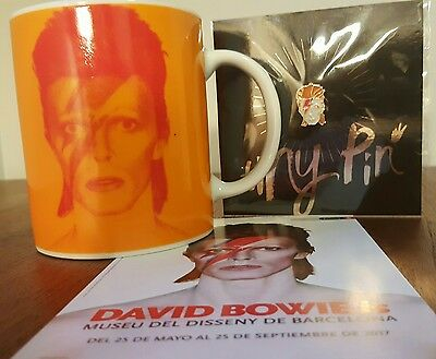 David Bowie Is Exhibition Mug, Pin & Free Flyer From Barcelona
