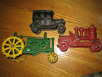 cast iron toys , lot of 3
