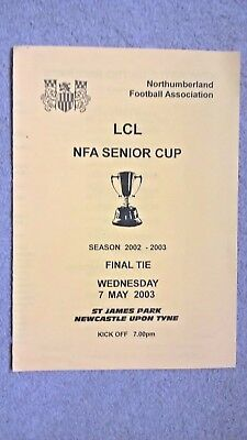 Northumberland Senior Cup Final 2003 - Newcastle Utd Res v Whitley Bay