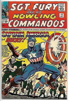 Sgt. Fury #13 (Dec 1964, Marvel) Captain America 2nd Silver Age Bucky Key Issue