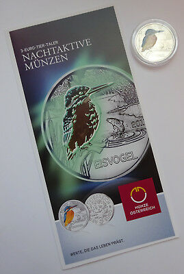 3€ Euro Tier Taler Eisvogel Münze 2017 (inkl. Folder)