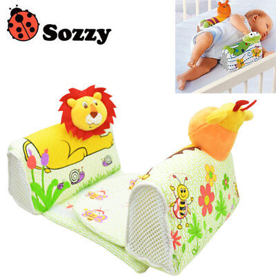 Baby Sleep Positioner Side Pillow Animal Safe Anti Roll Infant Toddler Cushion