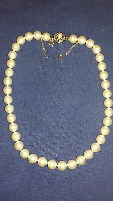 Majorca Faux Pearl necklace with sterling silver gilt lclasp