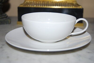 Kpm Urbino Blanc De Chine White Porcelain Large Tea Or Coffee Cup And Saucer