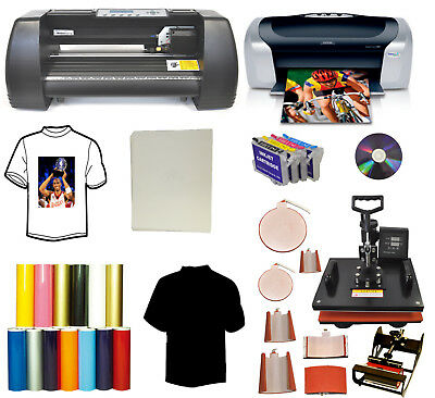 "13"" 500g Vinyl Cutter Plotter,8in1 Heat Press,Printer,Refil,Mug,Tshirt Startup"