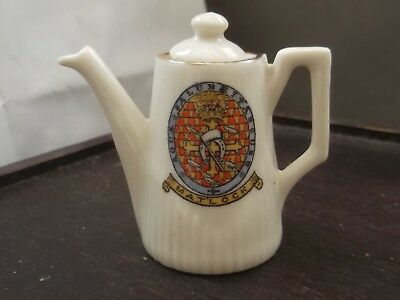 Vintage Coffee Jug    Crested Matlock By Victoria  China