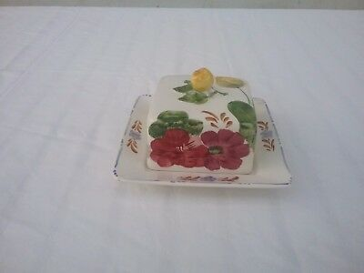 Simpsons Pottery Chanticleer Ware Belle Fiore Butterdose
