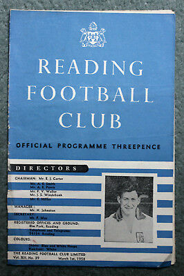 Reading FC Football Programme v Newport Co FC, Season 1957/58