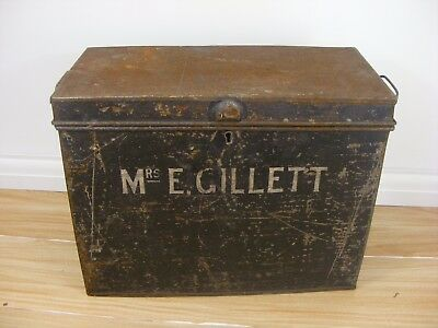 Vintage Retro Military? Ammo? Storage Tin Box Collectable Home Industrial