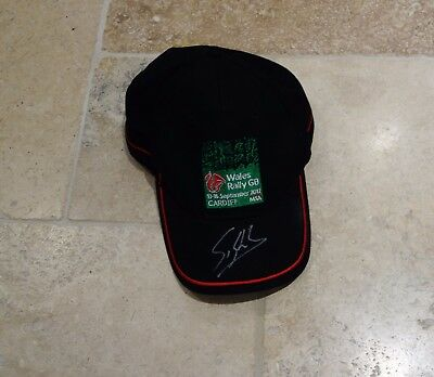 Sebastien Loeb Autographed Wales Rally GB Cap - Hand Signed with COA