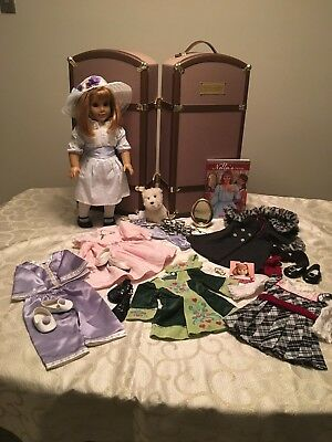 American Girl NELLIE  collection with STEAMER TRUNK MINT CONDITION