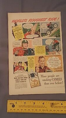 Vintage 1940 Camel Cigarette Advertisement Very Nice Full Page