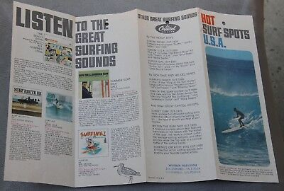 Hot Surf Spots and Great Surfing Sounds 1960's Surfing Brochure