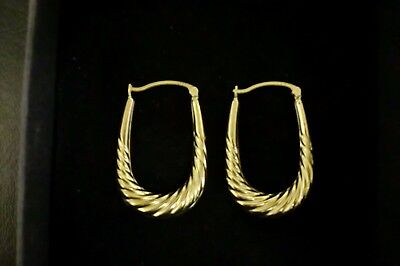 Beautiful 9ct Gold Creole Hoop Earrings