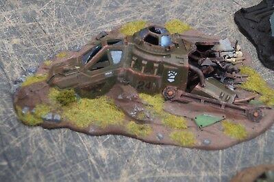 40k scenery crashed fighter