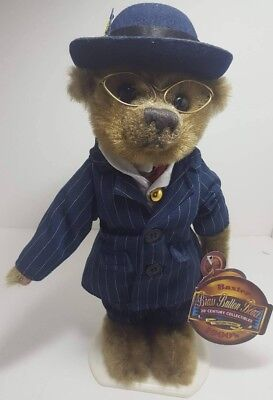 NWT 1900's Baxter Brass Button Bear 20th Century Collectibles w/ Stand