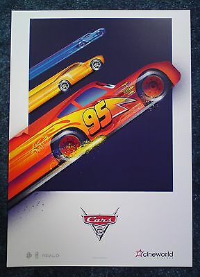 Disney CARS 3 POSTER Movie Cinema Film A3 NEW Unfolded Toy Story Fast Furious DC