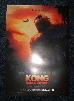 KONG SKULL ISLAND POSTER Movie Cinema Film NEW A3 Unfolded King Godzilla Marvel