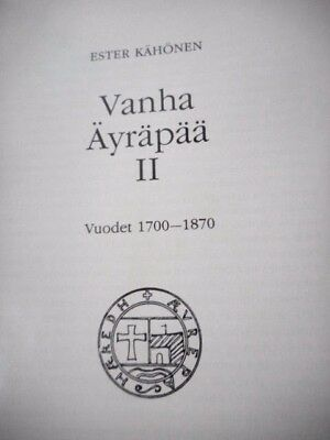 1700-1870 Vanha Finland Photographic And Biographical History Genealogy