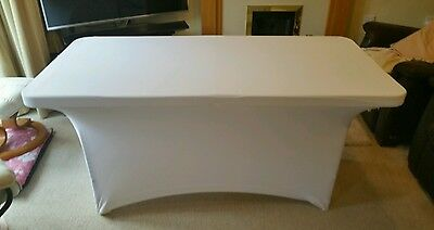 4ft white lycra table scrim