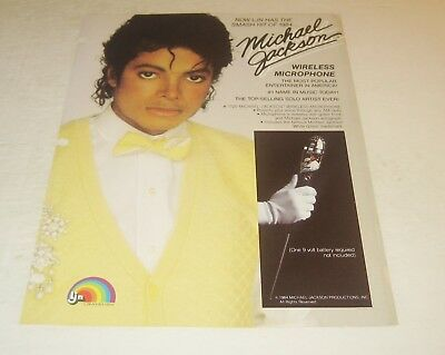 LJN 1984 Michael Jackson Toy Fair Product Sample Sheet Wireless Microphone Toy