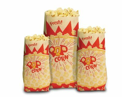 1000 Count Paragon Popcorn Bags Each Bag Holds 1oz Popcorn, Bag Design May Vary