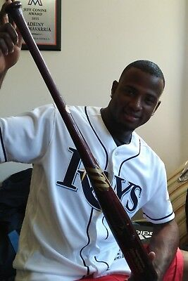 Tampa Bay Ray's Shortstop Adeiny Hechavarria Signed Game-Used Bat