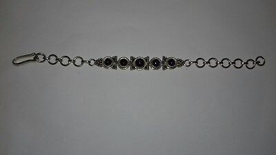 Vintage sterling silver and amethyst bracelet