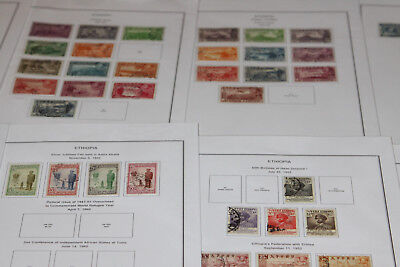 Ethiopia - 1947-68 Britannia Leaves With Mint And Used Collection