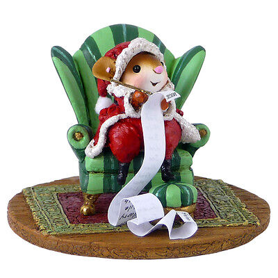 CHECKING IT TWICE by Wee Forest Folk, WFF# M-473c, New Santa Mouse 2014