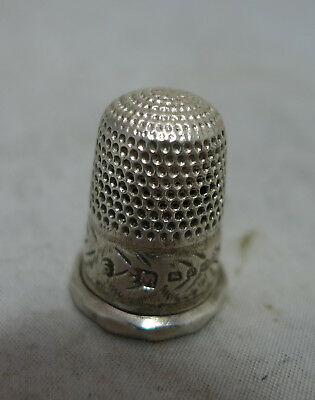 Victorian Silver Thimble Size 6 Charles May Birmingham 1898 A602017