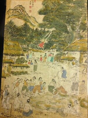 Antique Chinese Rice Paper Painting