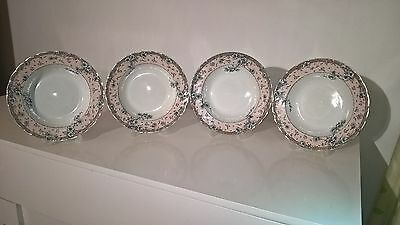 "Very Rare Antique Doulton Burslem Arnold 4 X 10"" Bowls / Dishes 1891 - 1902 WOW!"