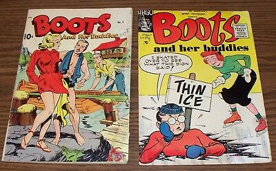 BOOTS and Her Buddies LOT of 2! Pines no.5, Sept 1948. Argo no.3, April 1956.
