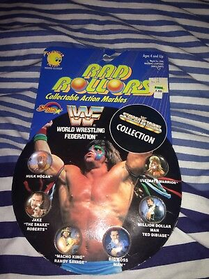 WWF Rad Rollers Collectible Marbles Ultimate Warrior