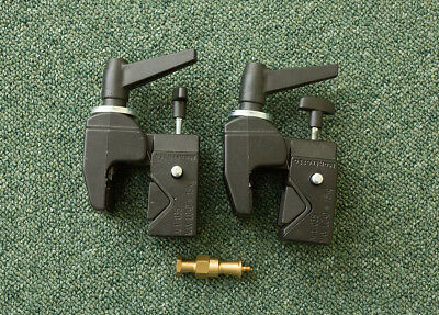2 x Manfrotto 035 Super Clamps & 1 x Manfrotto 036-38 Lighting Stud