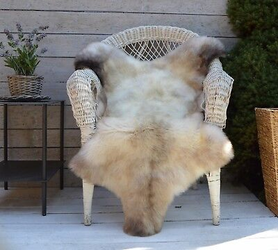 Luxury Sheepskin Rug, Throw, Blanket, Very Rare Breed Multi - Size L