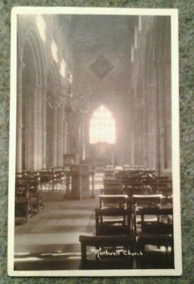 Rothwell Church Northamptonshire real photo postcard with Edward V11 1d stamp.