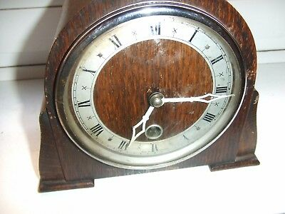Vintage Davall Wooden   MANTLE CLOCK 8 day