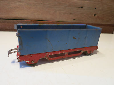 Vintage RARE Train Postwar Car Red & Blue Color With Wood Wheels - Made In USA!