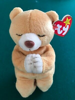 a1730bfe5e2 Ty Beanie Baby Babies 1999 HOPE Praying Bear MWMT No Stamp in Tush Tag