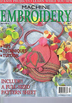 Machine Embroidery Magazine Celtic Designs, Vol 4 No 2 Vintage Heirloom Sewing