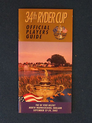 Ryder Cup 2002 - Players Guide - Held at The Belfry
