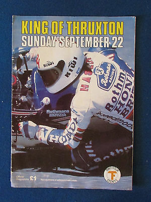 King of Thruxton - Motorcycle Superbikes - Programme - 22/9/1985