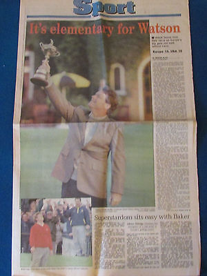 Ryder Cup 1993 - Birmingham Post Newspaper Sports Supplement - 27/9/93