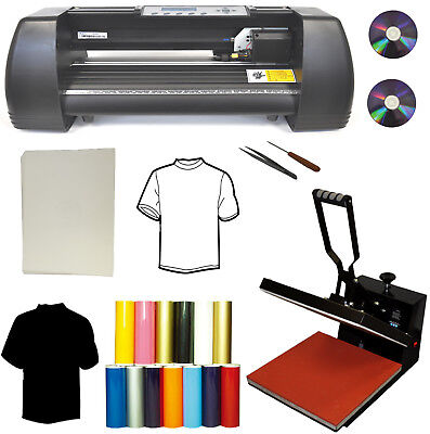 "New 15x15 Heat Press,13"" 500g Vinyl Cutter Plotter,Heat Transfer Paper,PU Vinyl"