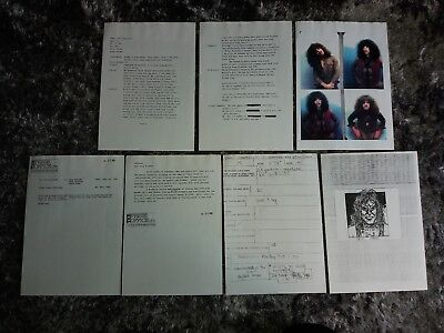 RARE Copy of the ERIC CARR Portfolio (Application) that led to him joining KISS