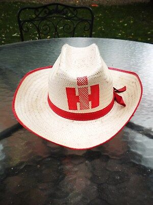 Vintage International Harvester Straw Water Proof Hat, Great Condition Must See