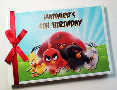 Personalised Angry Birds First/1St Birthday Guest Book - Any Design